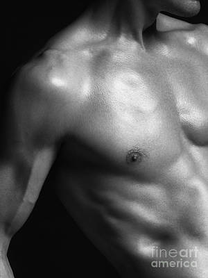 Naked Photograph - Closeup Of Fit Man Body Parts by Oleksiy Maksymenko