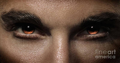 Closeup Of Man Fierce Eyes Print by Oleksiy Maksymenko