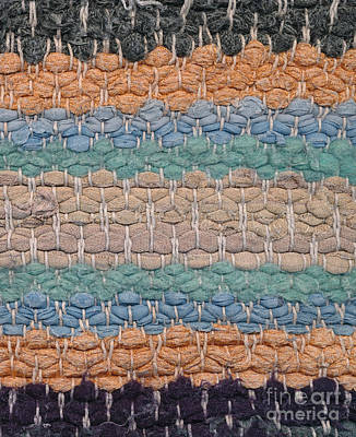 Warp-weft Tapestry - Textile - Closeup Of Old Rag Rug by Kerstin Ivarsson