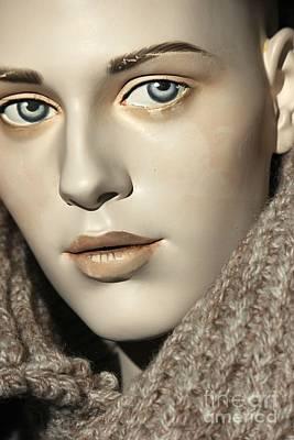 Closeup On Mannequin's Face Print by Sophie Vigneault