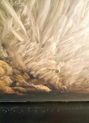 Seagull Digital Art - Cloud Chaos Cropped by Matt Molloy
