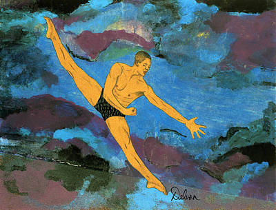 Alvin Ailey Painting - Cloud Dancer by Delvon