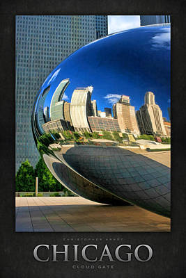 Chicago Reflections Painting - Cloud Gate Bean Poster by Christopher Arndt