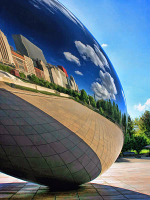 Chicago Reflections Painting - Cloud Gate Teardrop by Christopher Arndt