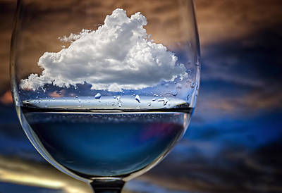 Montage Photograph - Cloud In A Glass by Chechi Peinado