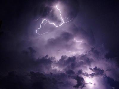 Cloud Lightning Original by James Peterson