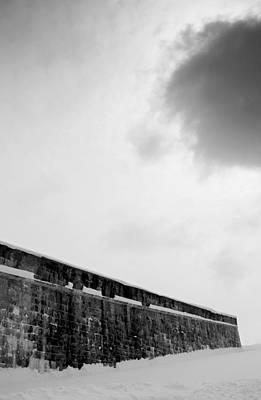 Cloud Over Quebec City Fortifications Print by Arkady Kunysz