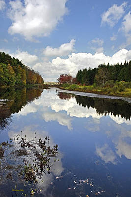 Country Scene Photograph - Autumn Lake Reflection Landscape by Christina Rollo