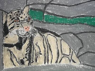 Clouded Leopard Pastel On Paper Print by William Sahir House
