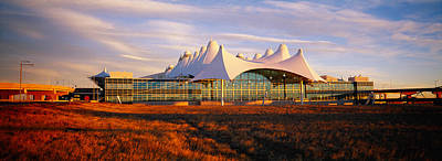 International Airport Photograph - Clouded Sky Over An Airport, Denver by Panoramic Images