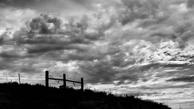 Barbed Wire Fences Photograph - Cloudgate by Joseph Smith