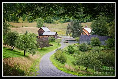 Hollow Photograph - Cloudland Farm Woodstock Vermont by Edward Fielding