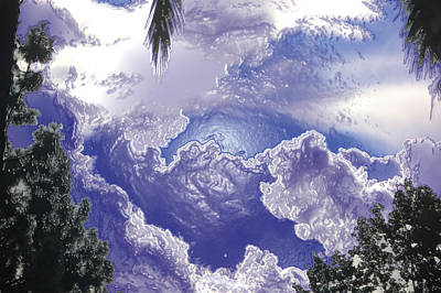 Digital Altered Photograph - Clouds Abstract II by Linda Brody
