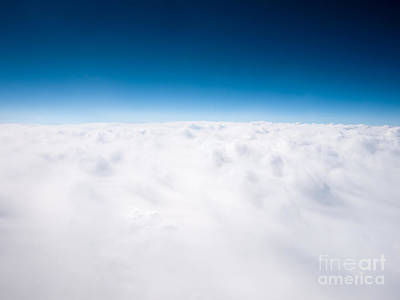Clouds Aerial From Above Background Print by Paul Velgos