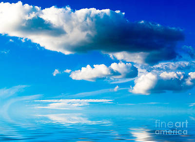 Clouds And Sea Print by Boon Mee