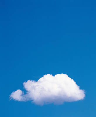 Cumulus Photograph - Clouds In Blue Sky by Panoramic Images