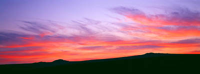 Clouds In The Sky At Dusk, Dartmoor Print by Panoramic Images
