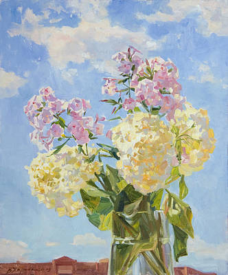 Clouds Of Hydrangea Print by Victoria Kharchenko