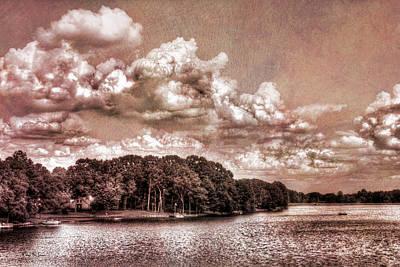 Scenic - Landscape - Clouds Over Bridgetown Print by Barry Jones