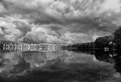 Clouds Over Crystal Lake Print by Kevin Kludy