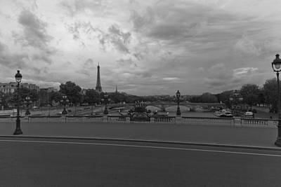 Trees Photograph - Clouds Over Eiffel Tower by Maj Seda