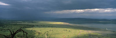 Bare Trees Photograph - Clouds Over Mountains, Lake Nakuru by Panoramic Images