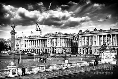 Architecture Photograph - Clouds Over Place De La Concorde by John Rizzuto