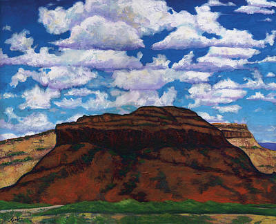 Cloudy Day Painting - Clouds Over Red Mesa by Joe  Triano
