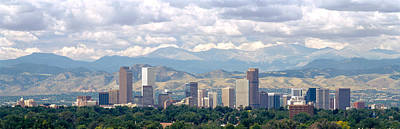 Clouds Over Skyline And Mountains Print by Panoramic Images