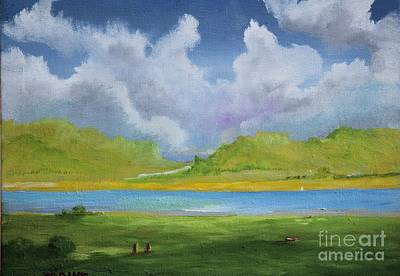 Clouds Over The Lake Original by Alicia Maury