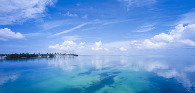 Clouds Over The Ocean, Florida Keys Print by Panoramic Images