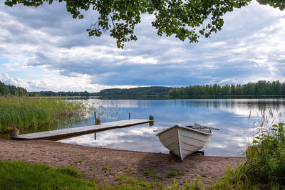 Lake Photograph - Cloudy Summer Day by Ari Salmela