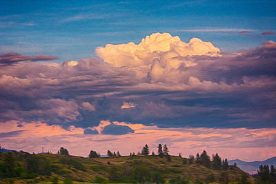 Cloudy Sunset Print by Omaste Witkowski
