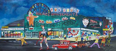 Asbury Park Painting - Clown Parade At The Palace by Patricia Arroyo