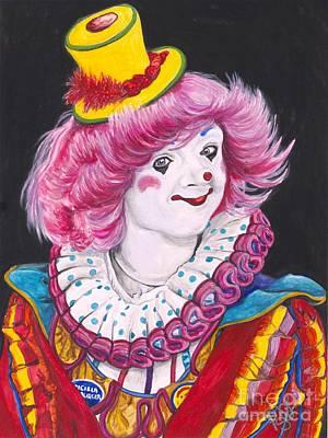 Circus Painting - Watercolor Clown #13 Patricia Manuel by Patty Vicknair