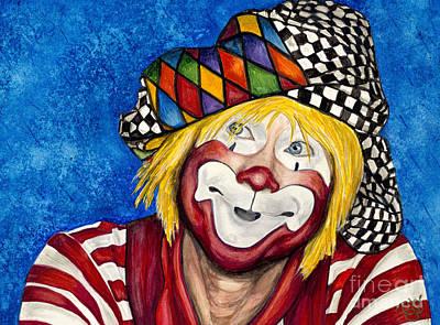 Klown Painting - Watercolor Clown #16 Ron Maslanka by Patty Vicknair