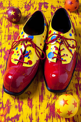 Clowns Photograph - Clown Shoes And Balls by Garry Gay