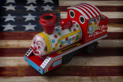 Clown Photograph - Clown Train by Garry Gay