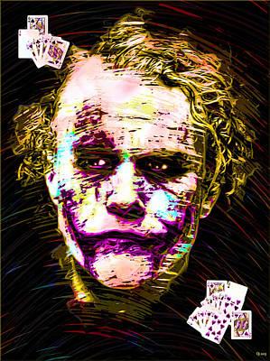 Heath Ledger Digital Art - Clown With Zero Empathy by Daniel Janda