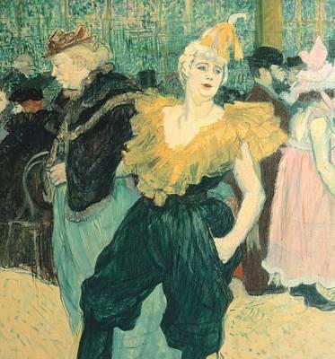 Toulouse-lautrec Painting - Clowness Cha-u-kao At Moulin Rouge by Henri de Toulouse Lautrec