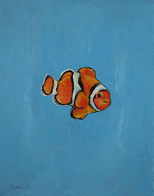 Tropical Fish Painting - Clownfish by Michael Creese