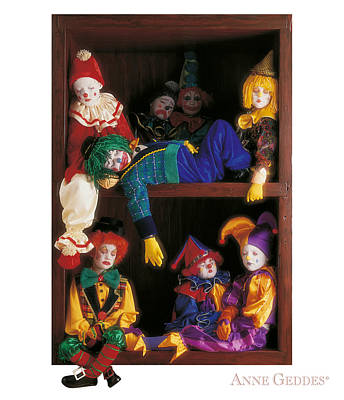 Clowns Photograph - Clowns by Anne Geddes