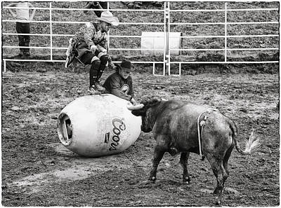 Clowns Challenging The Bull Original by Hal Norman K