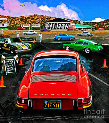 Early Spring Mixed Media - Club Racing by Alan Greene