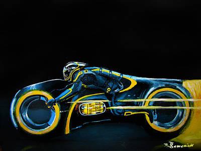 Clu's Lightcycle Print by Kayleigh Semeniuk