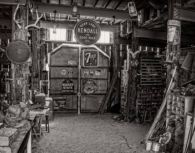 Oldzero Photograph - Cluttered Workbench by Steve Benefiel