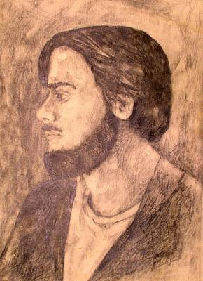 Impressionist Drawing - Pensive Clyde by Kendall Kessler