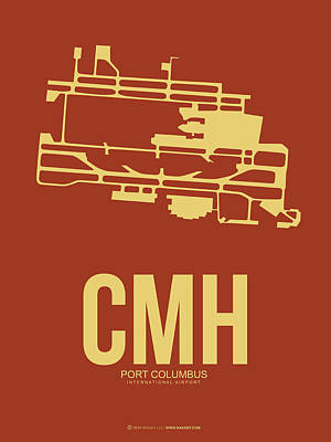 Cmh Columbus Airport Poster 1 Print by Naxart Studio