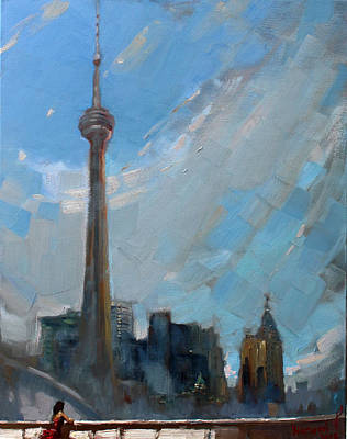 Toronto Painting - Cn Tower Toronto by Ylli Haruni