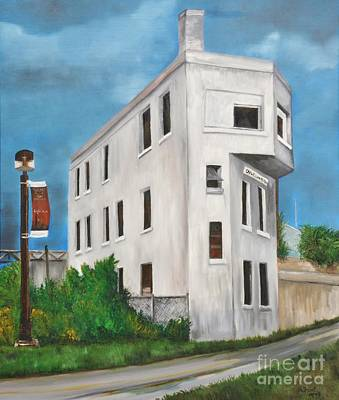 Montreal Buildings Painting - Cn Wellington Control Tower by Reb Frost